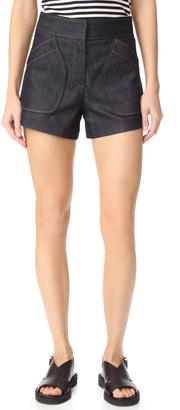 Derek Lam Patch Pocket Shorts $550 thestylecure.com