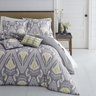 Azalea Azaela Skye Skye Global Ikat Medium Grey Duvet Cover Set, Full/Queen