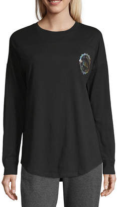 Flirtitude Long Sleeve Los Angeles T-Shirt-Womens Juniors