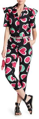 Love Moschino Watermelon Printed Cropped Pants