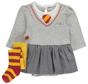 George Harry Potter Hermione Skirted Bodysuit and Tights Outfit