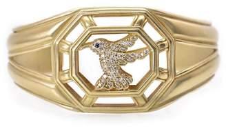 Slane & Slane 18K Yellow Gold Diamond Hummingbird Cuff