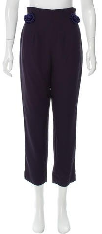 Christian Dior Embroidered High-Rise Pants