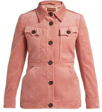 ALEXACHUNG Patch Pocket Corduroy Jacket - Womens - Dark Pink