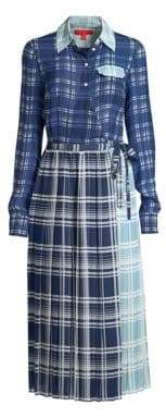 Tommy Hilfiger Tommy Pleated Madras Shirtdress
