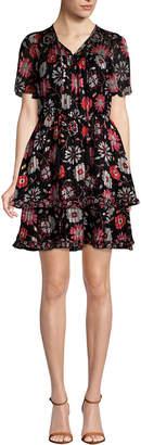 Kate Spade Casa Flora Flutter Sleeve Dress