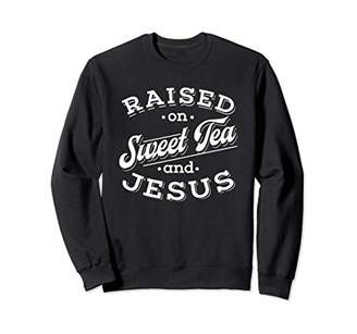 Womens Christian Southern Gift Girls Sweet Tea And Jesus Sweatshirt