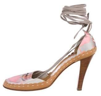Chanel Satin Round-Toe Pumps Pink Satin Round-Toe Pumps