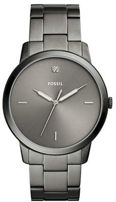 Fossil The Minimalist Carbon Series Three-Hand Smoke Stainless-Steel Watch