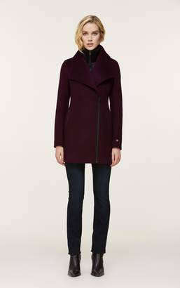 Soia & Kyo MAEVA classic wool coat with removable bib