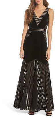 Xscape Evenings Illusion Crepe Gown