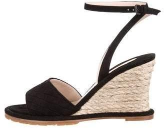 Bottega Veneta Suede Intercciato Sandals