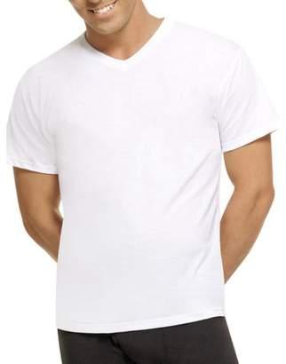 08cfa690 Hanes Mens ComfortBlend White V-Neck T-Shirts, 5 Pack