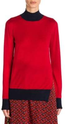 Marni Cashmere Contrast Turtleneck Sweater