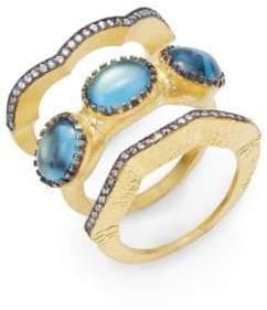 Azaara Classic 22K Yellow Gold Titan Ring Set