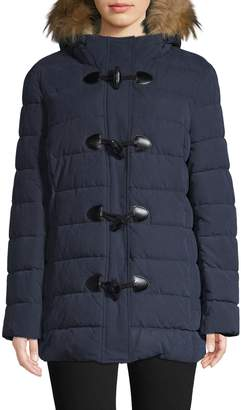 Tommy Hilfiger Faux Fur Trim Toggle Jacket
