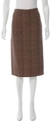 Michael Kors Printed Knee-Length Skirt