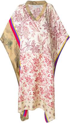 Pierre Louis Mascia Pierre-Louis Mascia floral panel kaftan dress