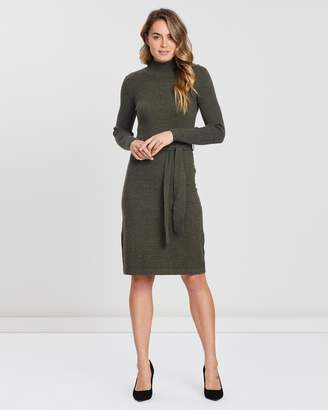 Forcast Becky Tie-Waist Knit Dress