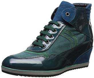 Geox Women's Illusion Hightop Wedge Sneaker