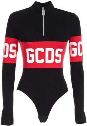 GCDS Body L/s Collar Band Logo