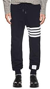 Thom Browne Men's Block-Striped Cotton Jogger Pants - Navy