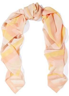 Valentino Striped Silk Scarf