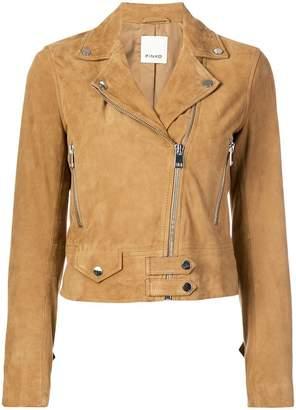 Pinko cropped moto jacket