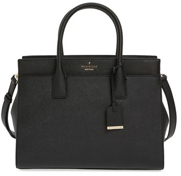 Kate Spade New York Cameron Street - Candace Leather Satchel - Black