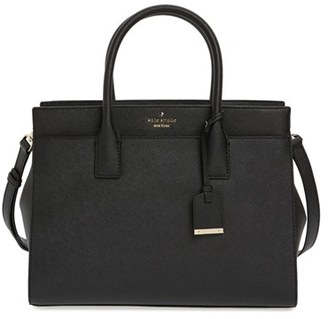 Kate Spade New York Cameron Street - Candace Leather Satchel - Black $378 thestylecure.com