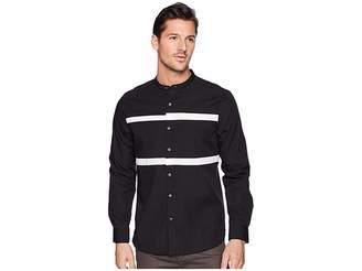 Kenneth Cole New York Collarband Pieced Shirt Men's Clothing