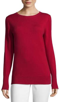 WORTHINGTON Worthington Long Sleeve Crew Neck Sweater - Tall