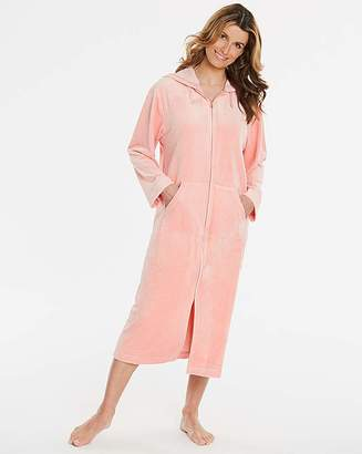 Pretty Secrets Velour Zip Peach Gown