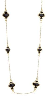 Judith Ripka 14K Gold Plated Sterling Silver Multi-Stone Station Necklace