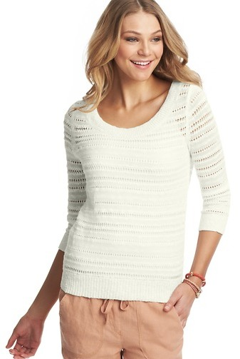 LOFT Textural Linen Cotton Sweater