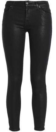 Coated Mid-Rise Skinny Jeans