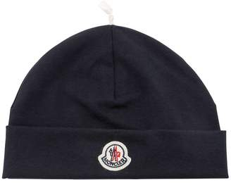 Moncler Double Cotton Jersey Hat W/ Logo
