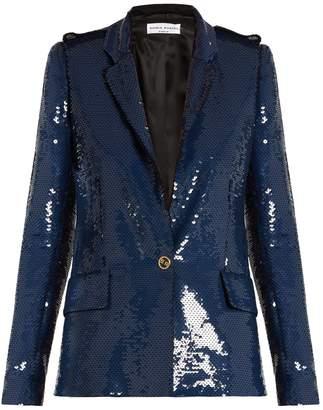 Sonia Rykiel Sequin-embellished single-breasted blazer