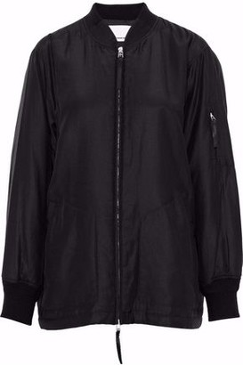 Alexander Wang Silk And Cotton-Blend Bomber Jacket