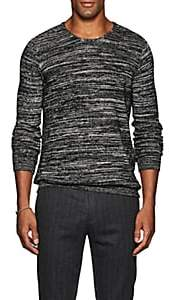 John Varvatos Men's Cotton-Blend Marled Sweater - Black