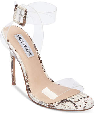 Steve Madden Women's Seeme Lucite Dress Sandals