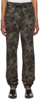 Etro Green Floral Lounge Pants