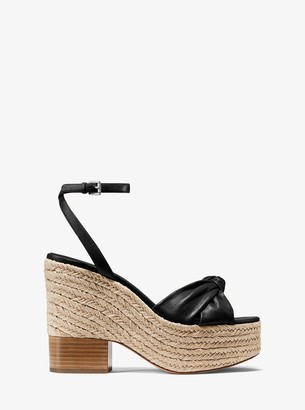 Michael Kors Silvana Leather Platform Sandal