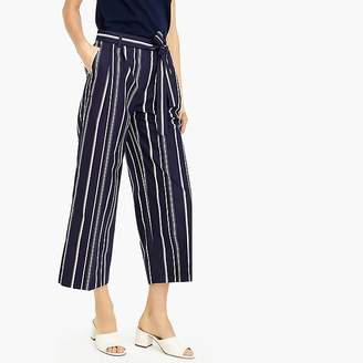 J.Crew Wide-leg cropped pant in stripe