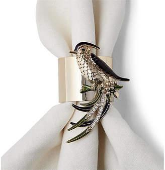 Joanna Buchanan Set of 2 Bird Napkin Rings - Gold