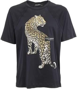 Dolce & Gabbana Leopard Patch Raglan T-shirt