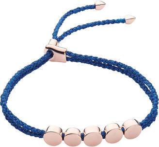 Monica Vinader Linear bead 18ct rose-gold vermeil friendship bracelet