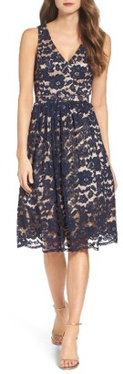 Women's Eliza J Lace Fit & Flare Dress $178 thestylecure.com