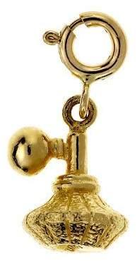 Dazzlers 14K Yellow Gold Perfume Atomizer Charm