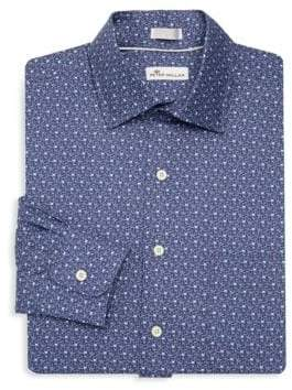 Peter Millar On the Rocks Printed Cotton Dress Shirt